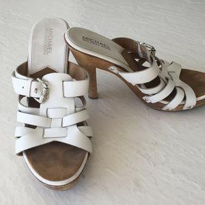 Michael Kors White 7.5 Platform high heel sandals